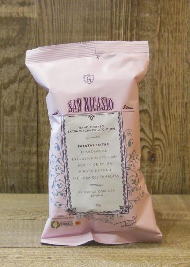 Chips huile d'olive sel rose