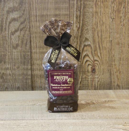 Raisins au Sauternes enrobés de chocolat